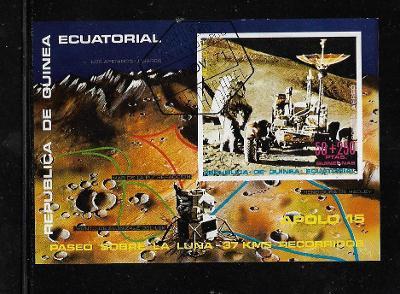 Rovníková Guinea 2 - Kosmos - Apollo 15+Rover - Edwin Aldrin na Měsíci