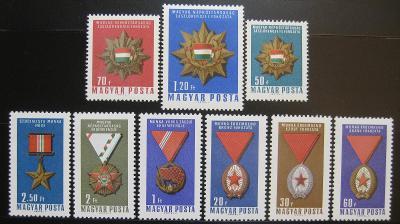 Maďarsko 1966 Vyznamenání Mi# 2222-30 0301
