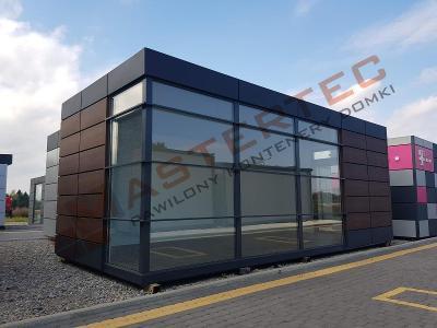 Kontejner, moderní modulární pavilon