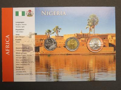 Nigérie: kompletní sada 3 mincí 2006 UNC v kartonovém obalu