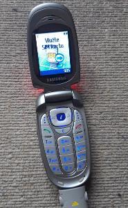 Starý telefon SAMSUNG SGH-X480.NABÍJEČKA!!FUNKČNÍ!HEZKÝ STAV!!