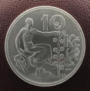 10 Kč 1932, stříbro