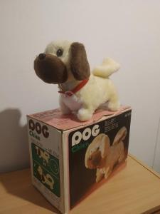 Retro Hračka Funkční 80 Léta Dog Chien
