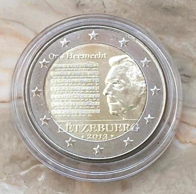 2 EURO PAMĚTNÍ MINCE LUCEMBURSKO 2013 - NÁRODNÍ HYMNA - UNC
