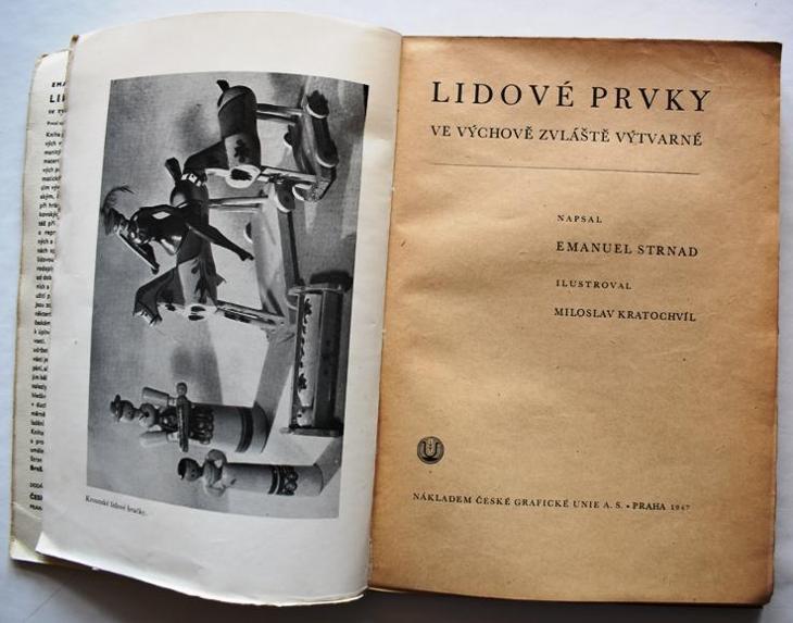 Strnad - Lidové prvky ve výtvarné výchově, ČGU 1947, brož s obálkou - Knihy