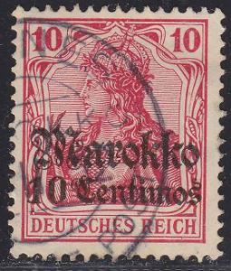 Deutsche Auslandpostämter MAROKO MiNr 48o MEKNES 2 +40EUR