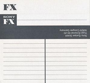 Audio Kazeta SONY FX 90 FX1 90 Red... 6ks MC