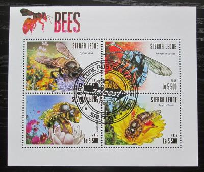 Sierra Leone 2015 Včely Mi# 6327-30 Kat 10€ 1895