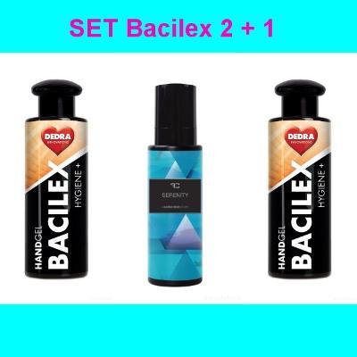 SET Bacilex 2+1 2xČisticí dezinfekční gel 100 ml, 1xKolínská