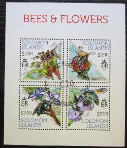 Šalamounovy ostrovy 2013 Včely a květiny Mi# 2142-45 Kat 9.50€ 1895