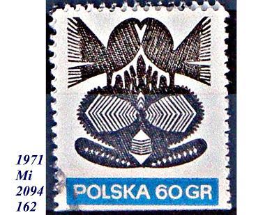 Polsko 1971 lidové umění, papírové vystřihovánky,