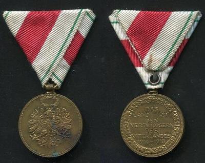 TYROLSKO. Účastníkům světové války 1914 - 1918.