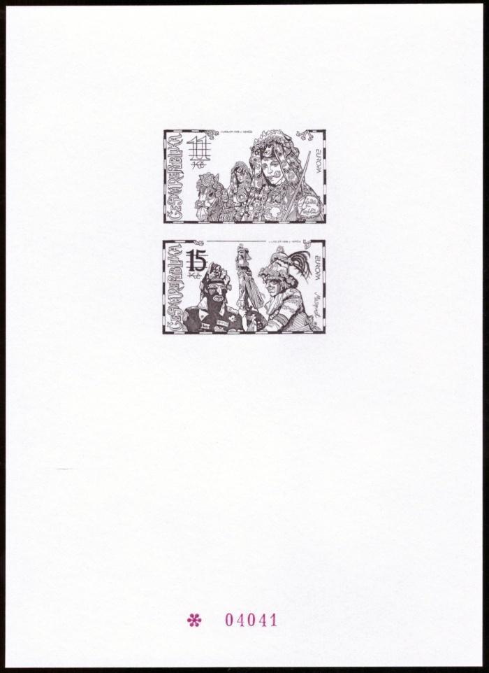 POF. PTR 6 - PŘÍLEŽITOSTNÝ TISK NÁRODNÍ SLAVNOSTI, EUROPA 1998 (T9503) - Filatelie
