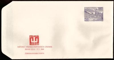 POF. COB 23 - CELINOVÁ OBÁLKA SVĚTOVÁ VÝSTAVA PRAGA 1968 (T9515)