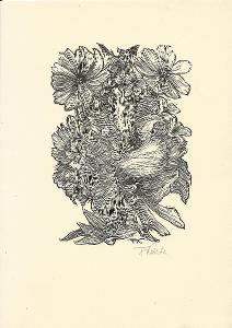 František Kobliha: Květiny (signováno)