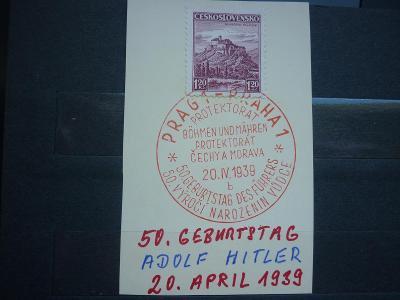 50 GEBURTSTAG 20 APRIL 1939 ADOLF HITLER  PR SST  WAR ŘÍŠE REICH !!! R