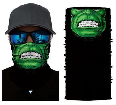 Hulk - designová rouška / šátek s 3D efektem Avengers Endgame