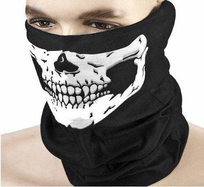 Maska šátek na motocykl kolo lyže snowboard rouška - Lebka