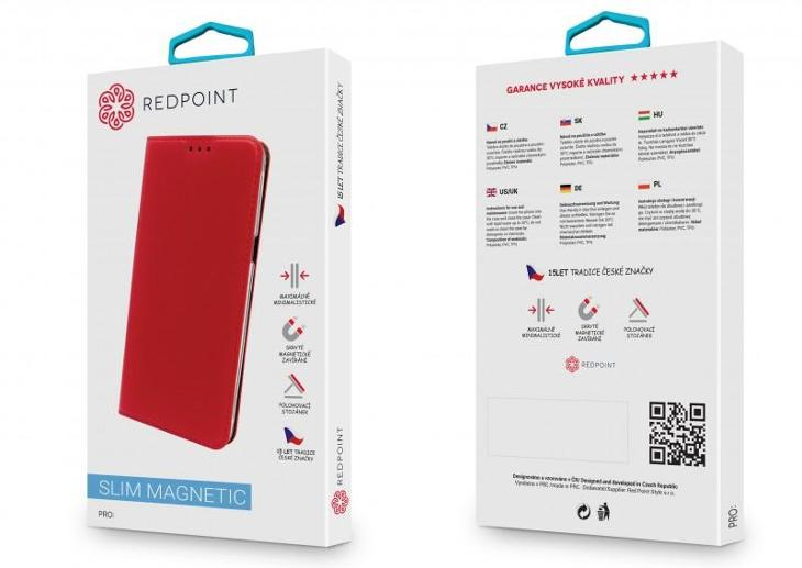 Pouzdro Redpoint BOOK Slim - Huawei P Smart Černá - Obaly, pouzdra, kapsy