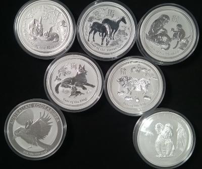 Stříbrné investiční mince 1 kg z Lunární série II. a další