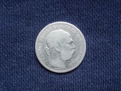 Stříbrná koruna 1895 KB. FJI