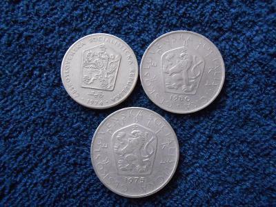 2+5 koruny 1974-80 Od koruny!!!