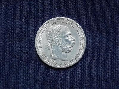 Stříbrná koruna 1899 . FJI