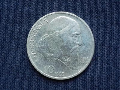 Stříbrná 10 Kčs J.A.Komenský 1957