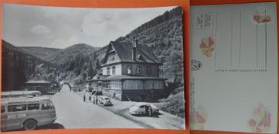 Radhošťské Beskydy - Trojanovice, starší auta, 1965