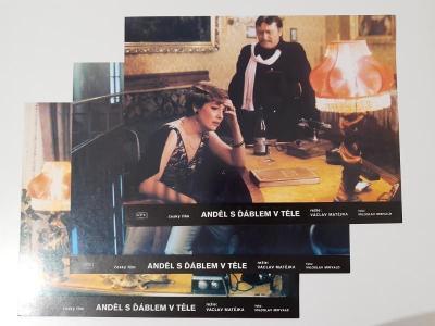 3x Filmová fotoska / plakátek  Andel s dablem v tele