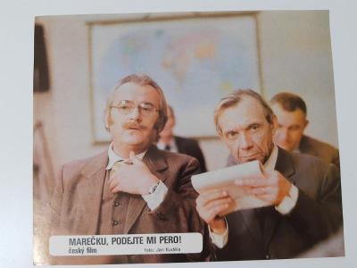 Filmová fotoska / plakátek  Marecku podejte mi pero