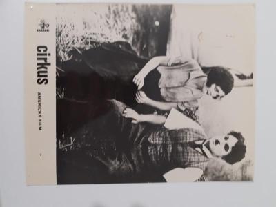 Filmová fotoska / plakátek  Cirkus, Chaplin