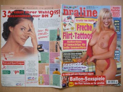 Německý erotický časopis - Die junge! praline - číslo 25 z roku 1996