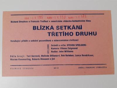 Filmová fotoska / plakátek  Blizk setkani tretiho druhu Spielberg