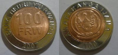 Rwanda 100 frank bimetal 0/0
