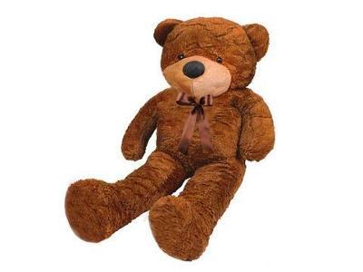 Velký plyšový medvěd tmavě hnědý 100 cm + dárek