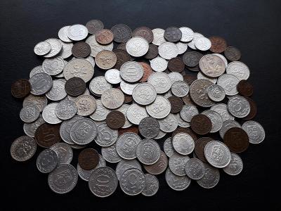 Československo - cca 125 velmi krásných mincí - viz fotografie