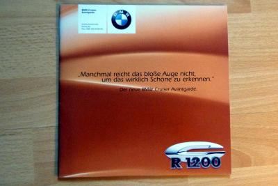 BMW R 1200, R 850 Cruiser Avantgarde - prospekt 1999