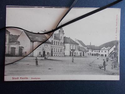 Brno venkov Dolní Kounice Kanitz  náměstí kostel restaurace
