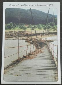 Přerov Povodeň v roce 1997 červenec Hranice osada rybáře