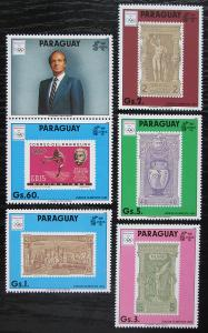 Paraguay 1990 LOH Barcelona s kupónem Mi# 4445-49 Kat 17€ 1040