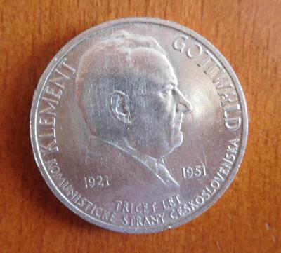 Stříbrná 100 Kč - Klement Gottwald