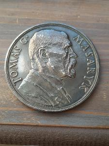 stireborná medaile TGM k 85. narozeninám 60 mm R 79.8 g matná