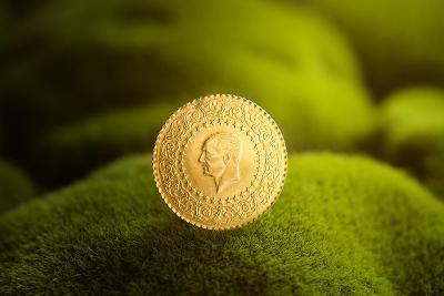 Zlatá mince 50 Kurush , váha 3,50 g, rok 1987.
