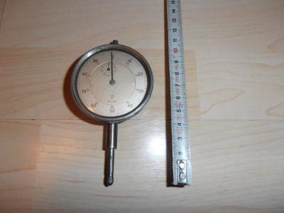 Starý číselníkový ÚCHYLKOMĚR KIENZLE D.R.Pat. 0,01mm-soustruh-levně