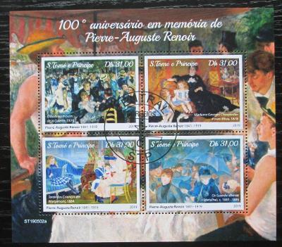 Svatý Tomáš 2019 Umění, Pierre-Auguste Renoir Mi# N/N 0102
