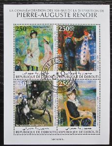 Džibutsko 2019 Umění, Pierre-Auguste Renoir Mi# N/N 1919
