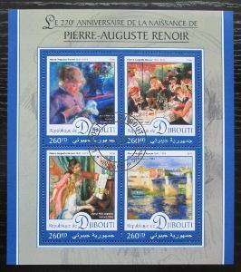 Džibutsko 2016 Umění, Pierre-Auguste Renoir Mi# 1164-67 Kat 10€ 1919