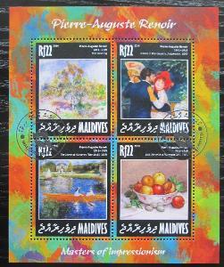Maledivy 2014 Umění, Pierre-Auguste Renoir Mi# 5966-69 Kat 10€ 1920