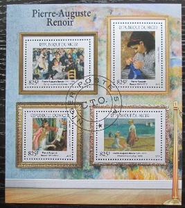 Niger 2015 Umění, Pierre-Auguste Renoir Mi# 3702-06 Kat 24€ 1920